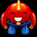 Monstruo rojo feliz icono