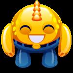 Monstruo amarillo feliz icono