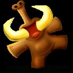 Icono de mamut feliz