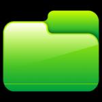 Carpeta cerrada icono verde