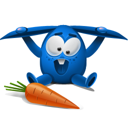 blue rabbit icon