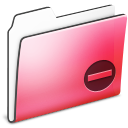 Private Folder Red smooth icon