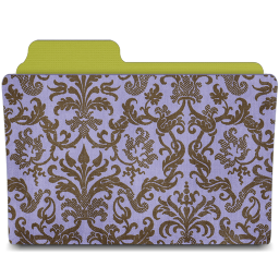 folder damask hyacinth icon